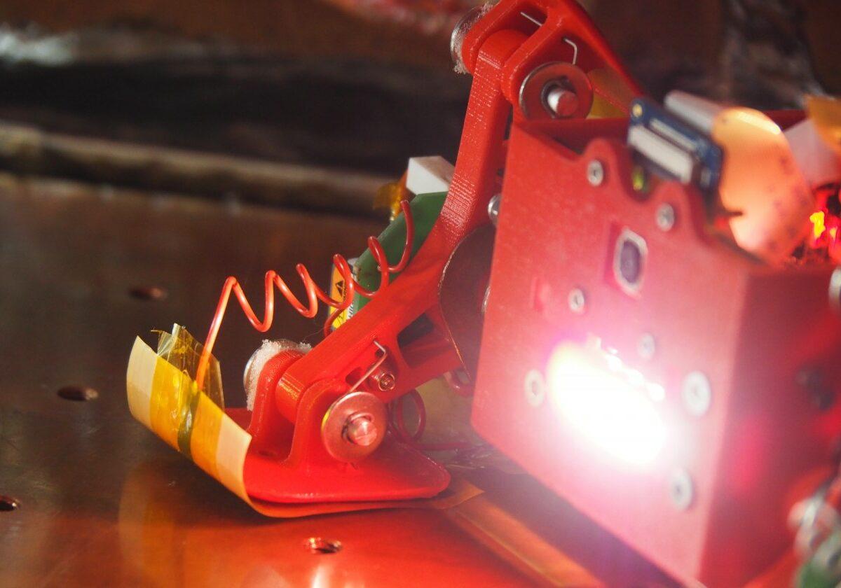 Prototype in vacuum chamber